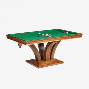 Treviso Rectangular Bumper Pool Table w/ 2 Piece Dining Top